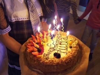 Торт Наполеон на День рождение Риты